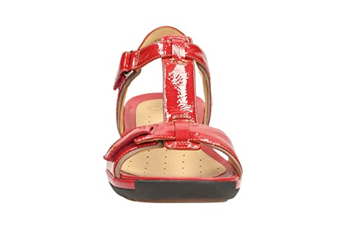 25f2af9c442a04 Clarks Womens Casual Clarks Un Voshell Leather Sandals In Red   Amazon.co.uk  Shoes   Bags