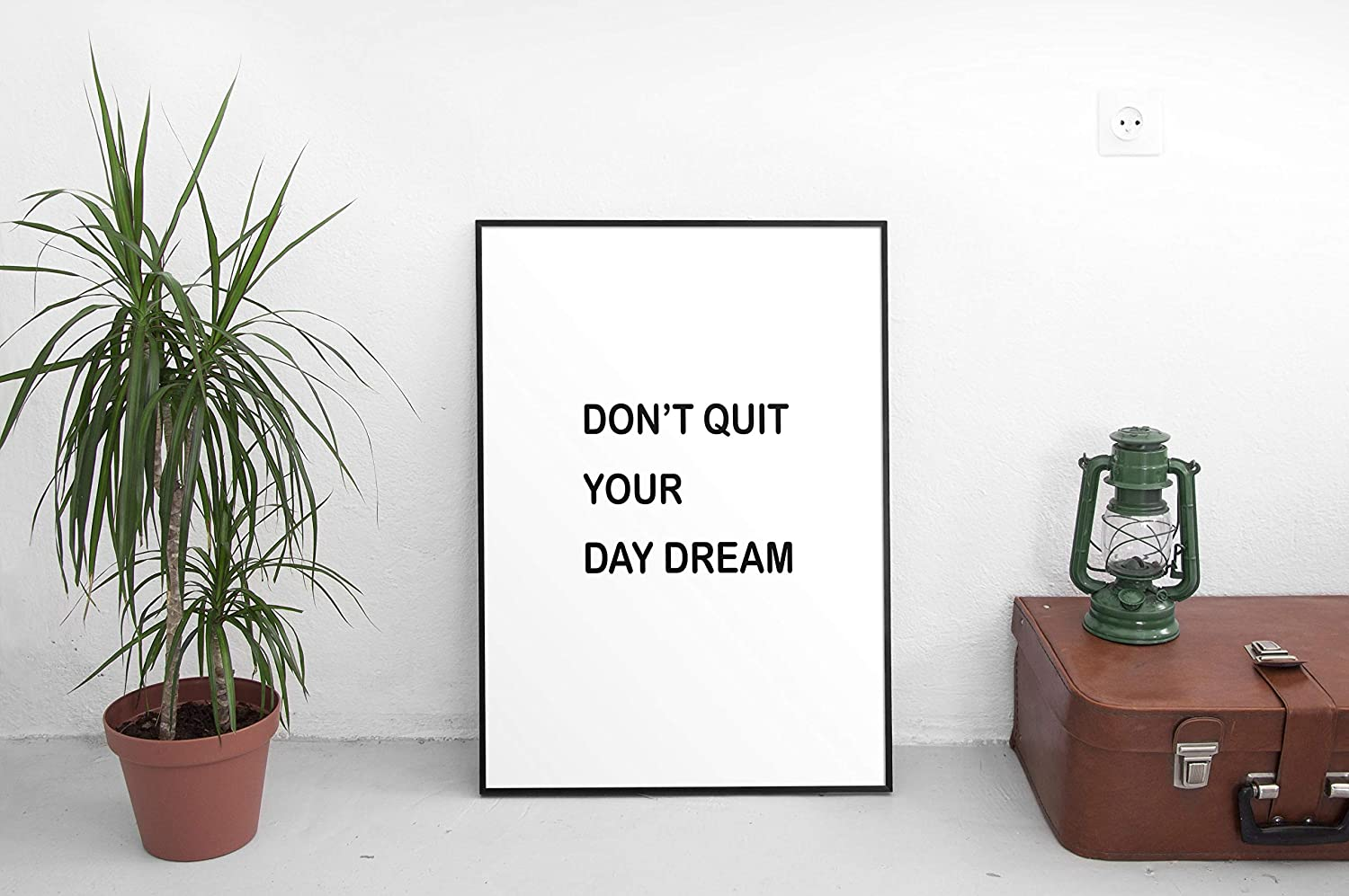 Flowershave357 Printable Wall Art Dont Quit Your Day Dream Wall Decor Home Decor Home Office Decor Quote Gallery Wall Black and White Printable Quote