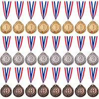 Favide 24 Pieces Gold Silver Bronze Award Medals-Winner Medals Gold Silver Bronze Prizes for Competitions, Party,Olympic…