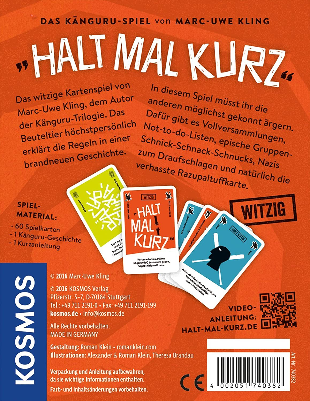 KOSMOS Juegos 740382/ /Juego de Cartas sujeci/ón Veces Corta