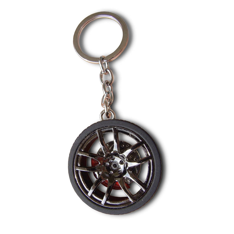 Livelybuy portachiavi auto cerchione della gomma con freno a disco portachiavi miniature Fashion decorazione ciondolo Accessary souvenir Gift