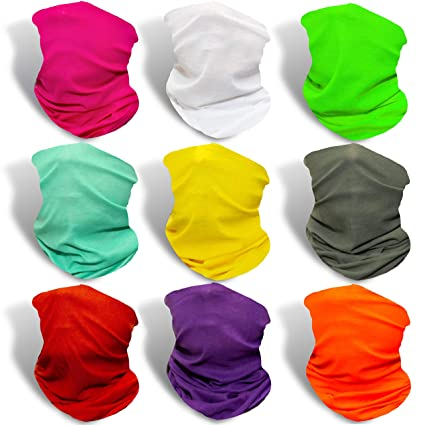 Reliable 6pcs Outdoor Scarf Outdoor Headwear Scarf Solid Plain Color Bandana Mask Neck Tube Sun Protection Bike Cycling Face Mask Apparel Accessories