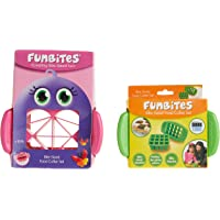 FunBites Shaped Food Cutter Set Green/Pink
