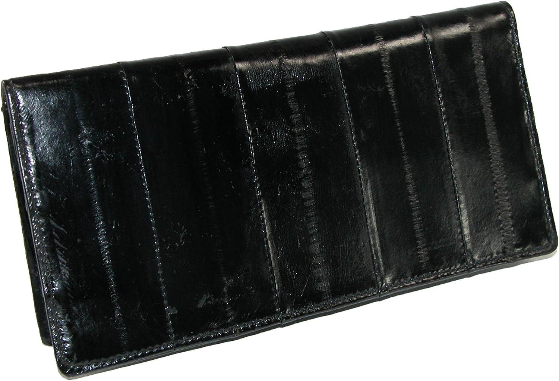 Genuine Eel Skin PLAIN Checkbook Cover Brown NEW!!!