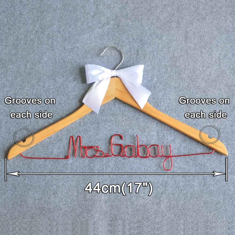 Amazon.com: Personalized Wedding Hanger Wedding Dress Hanger ...