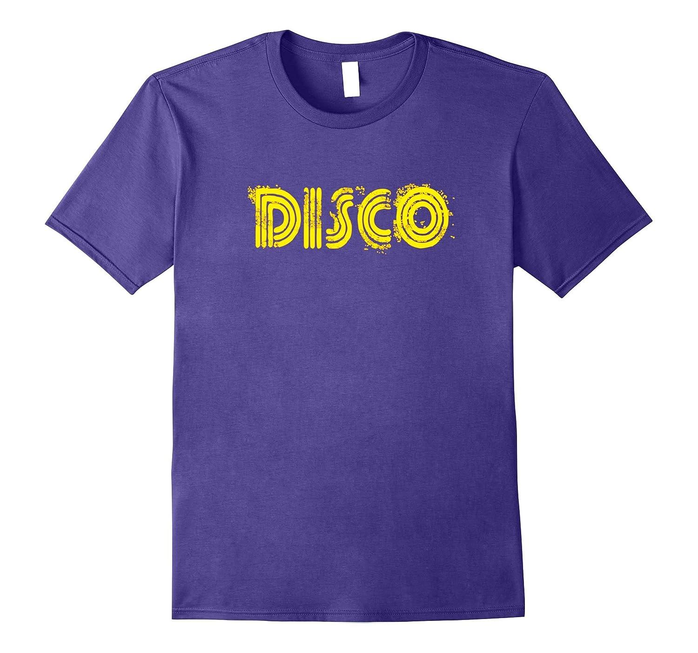 Disco 1970s Style Tshirt Vintage Retro Neon Light Funky Tee-TJ