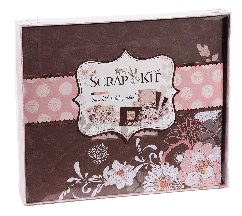 10.63 x 9.13 x 1.38 Inches Dusty Pink Juvale DIY Scrapbook Kit Photo Album