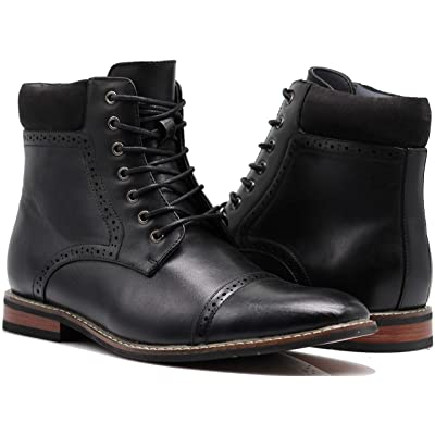 OTW4N Men's Chukka Ankle Dress Boots Captoe for Winter Lace Up Oxfords Boots | Chukka
