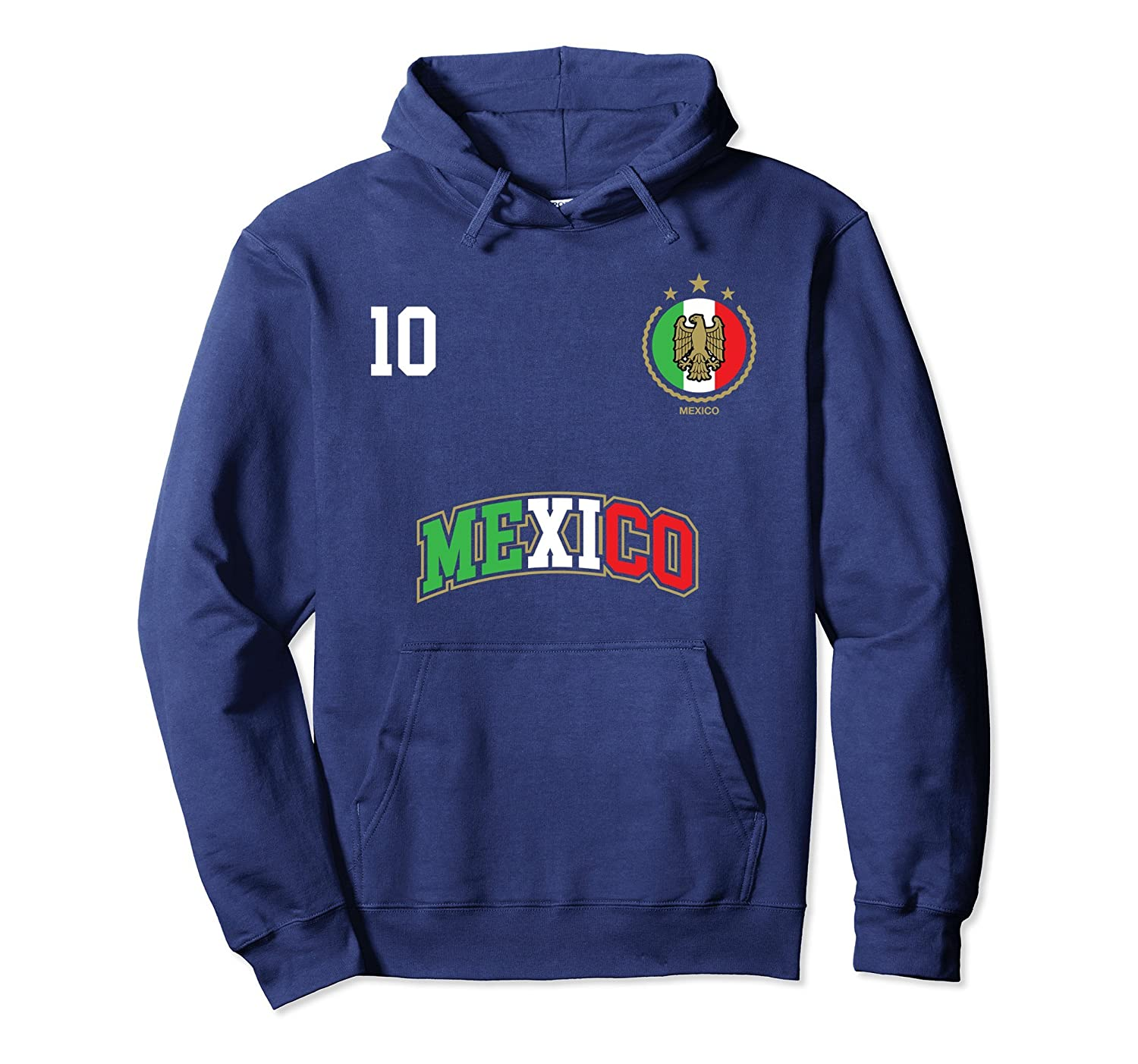 Amazon.com  Mexico Soccer Team Hoodie Number 10 Sport Mexican Flag Shirt   Clothing c55506d9f