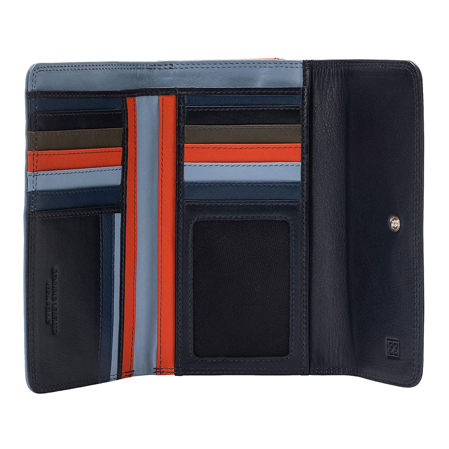 Soft Leather MultiColour Woman's Wallet by DUDU Navy