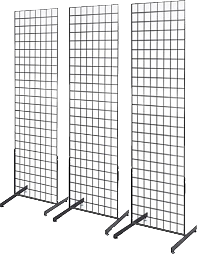 20 PCS Gridwall Utility Hook Grid wall Panel Display Picture Notch Black