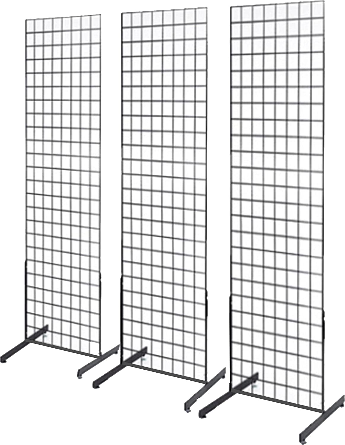 Amazon.com: 2\' x 6\' Grid Wall Panel Floorstanding Display Fixture ...