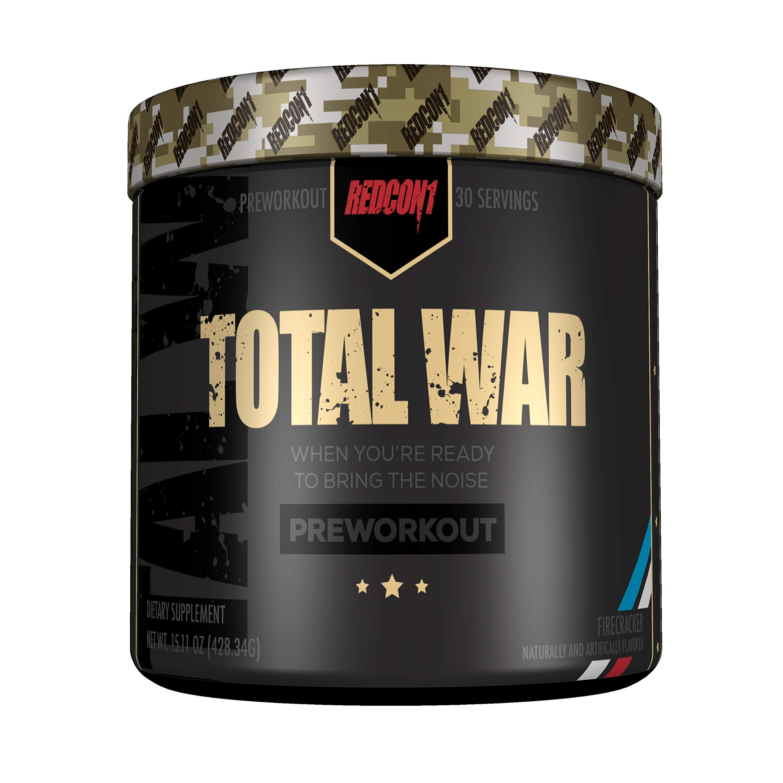 Redcon1 Total War - Pre Workout - 30 Servings - Newly Formulated (Firecracker) by Redcon1 (Image #1)