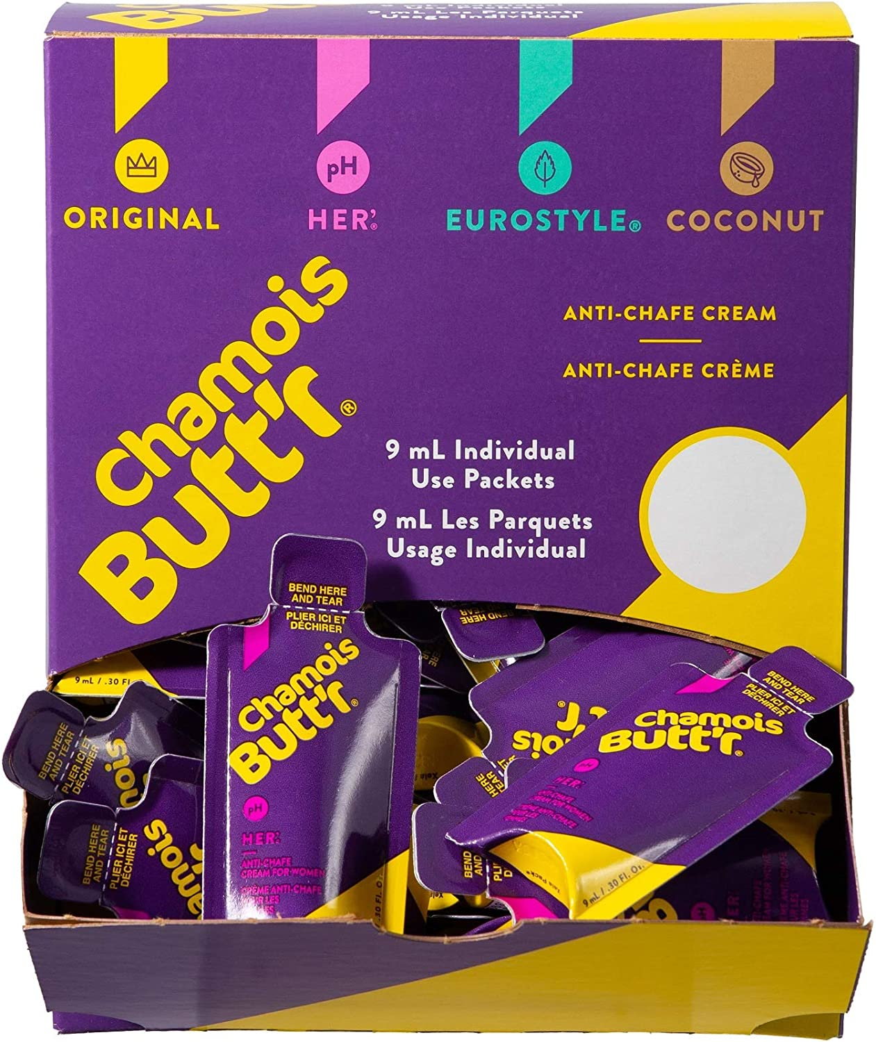 Chamois Butt'r Her' 9mL Packets - 75 Count