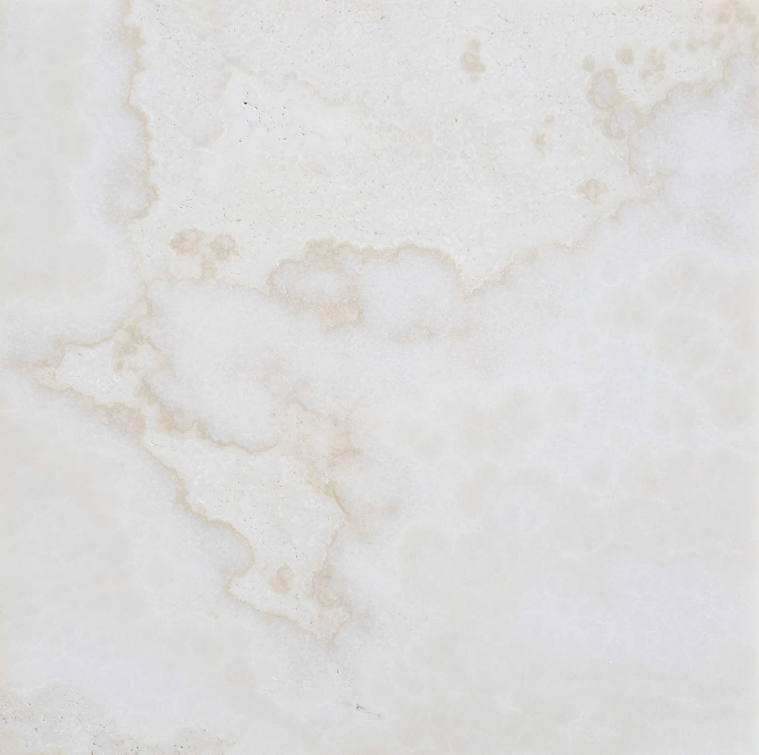 White Onyx (Bianco Fantastico) 12 X 12 Polished Tile, Cross-Cut ...