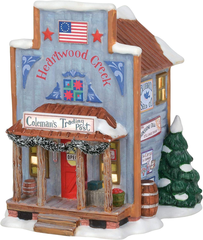 Department 56 New England Village Jim Shore Coleman's Trading Post Lit Building, 6.5 Inch, Multicolor