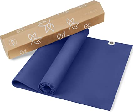 Amazon Com Natural Rubber Yoga Mat Version 2 Eco Yoga Mat Newly Improved Non Slip Pattern Reversible Natural Rubber Includes Carrying Strap Yoga Mat 68 Inch