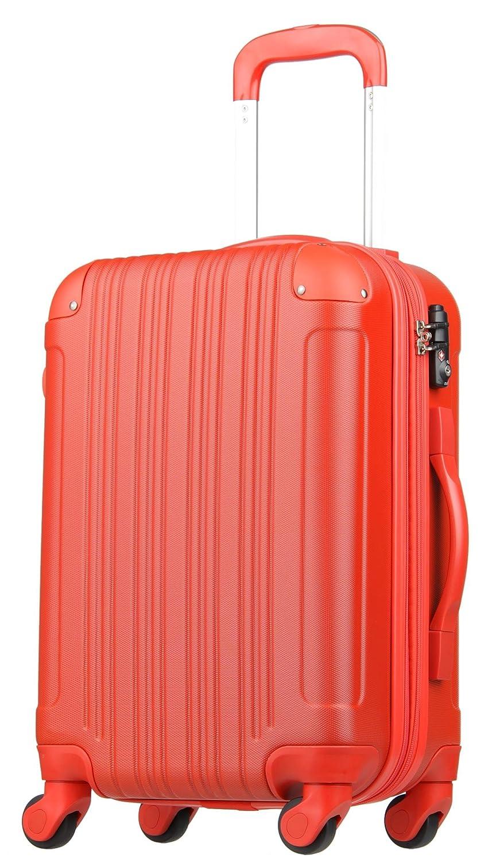 【レジェンドウォーカー】LEGEND WALKER スーツケース 容量拡張 TSAロック 超軽量 マット加工 ファスナー開閉 5082 B0797RGFRM Lサイズ(7泊以上/88(拡張時102)リットル)|レッド レッド Lサイズ(7泊以上/88(拡張時102)リットル)