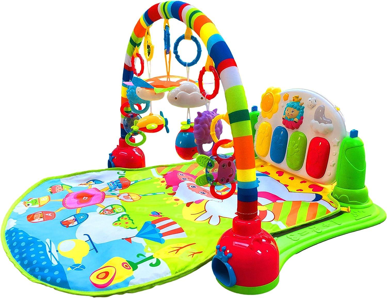 SURREAL 3 en 1 Baby Piano Play Gym PlayMat Música y luces - Verde