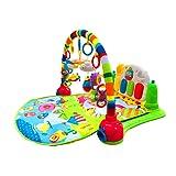 Surreal 3-in-1-Spielmatte für Babys mit Baby-Klavier, Spielmöglichkeiten, Musik und Beleuchtung