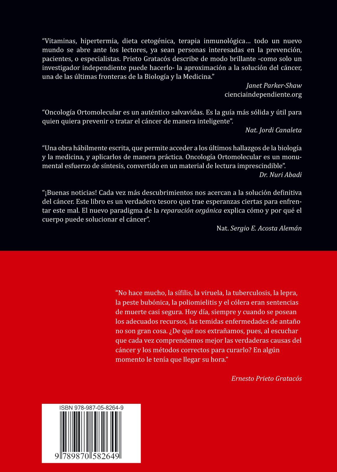 Oncología Ortomolecular: el arte de sanar el cáncer a través de la Reparación Orgánica: Ernesto Prieto: 9789870582649: Amazon.com: Books
