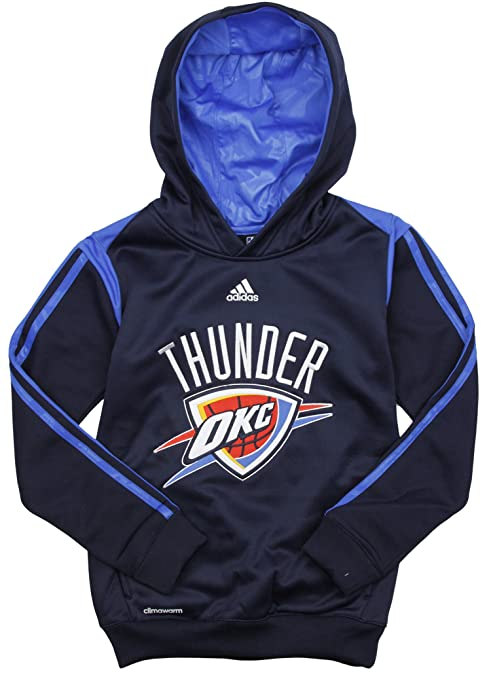 adidas Oklahoma City Thunder NBA Big Boys On Court Hoodie - Navy Blue  (Small ( 29a05a761b60