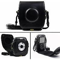 Cisixin Étui Housse Sac caméra en cuir pour Fujifilm Instax Square SQ 10, Mini Caméra Housse (Noir)