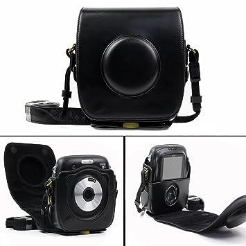 Cisixin Cuero de Cámara Caja de Cámara para Fujifilm Instax Square SQ 10 Cámara Digital (Negro): Amazon.es: Electrónica