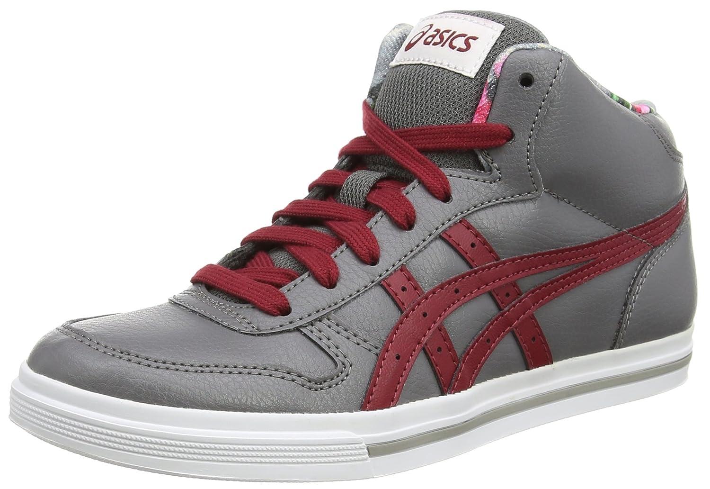 Asics Aaron Mt GS Unisex-Erwachsene Sneakers Grau (Grey/Burgundy 1125)