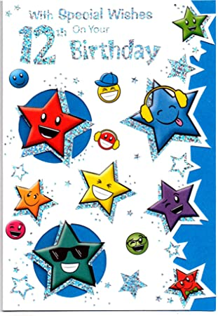 Birthday Card For Twelve 12 Year Old Boy