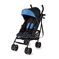 Summer 3Dlite+ Convenience Stroller, Blue/Matte Black – Lightweight Umbrella Stroller...
