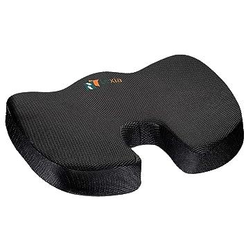 Amazon.com: Cojín ortopédico para asiento de coxis, almohada ...