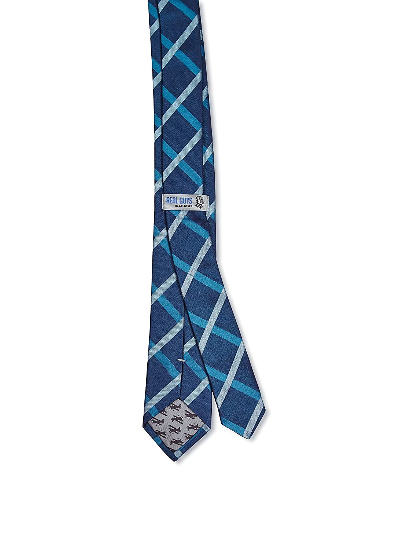 Real Guys Corbata rayas, 100% seda, azul petróleo, 6 cm: Amazon.es ...