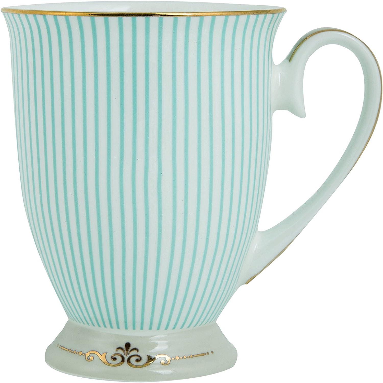 ENJOHOS Royal Vintage Porcelain Bone China Coffee Mug/Tea Cup/Gift Ideas  (Royal Blue Stripe)