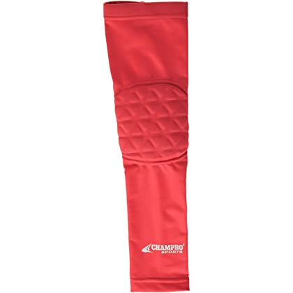 19c2c73040 CHAMPRO Compression Arm Sleeve with Elbow Padding Protection - Multiple  Sizes & Colors