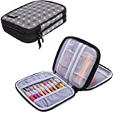 Damero Crochet Hook Case, Organizer Zipper Bag with Web Pockets for Various Crochet Needles and Knitting Accessories, Well Ma