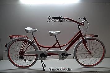 Cicli Ferrareis Tandem 28 Rosso Riscio Bici Biposto Bicicletta