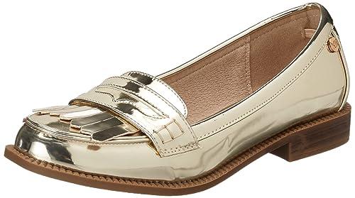 XTI Gold Mirror PU Ladies Shoes, Mocasines para Mujer, Dorado, 39 EU: Amazon.es: Zapatos y complementos