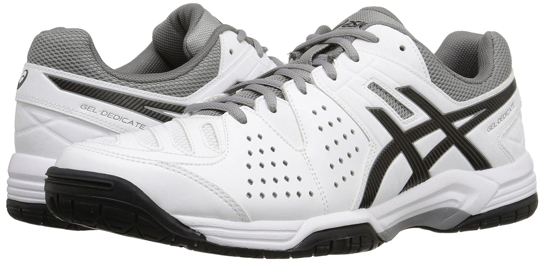 huge selection of 8daef c5bfb Amazon.com   ASICS Men s Gel-Dedicate 4 Tennis Shoe, White Black Aluminum,  9.5 M US   Skateboarding
