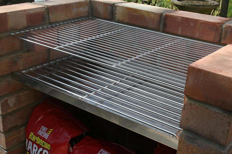 Stainless Steel DIY Brick BBQ Kit Heavy Duty 7mm Charcoal Grate:  Amazon.co.uk: Garden U0026 Outdoors