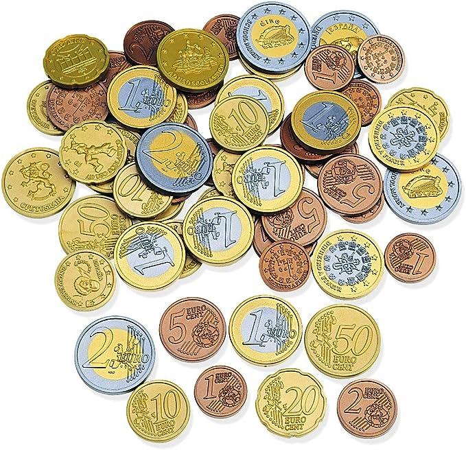 Learning Resources monedas de euro (juego de 100), color surtido (LSP0026-EUR): Amazon.es: Juguetes y juegos