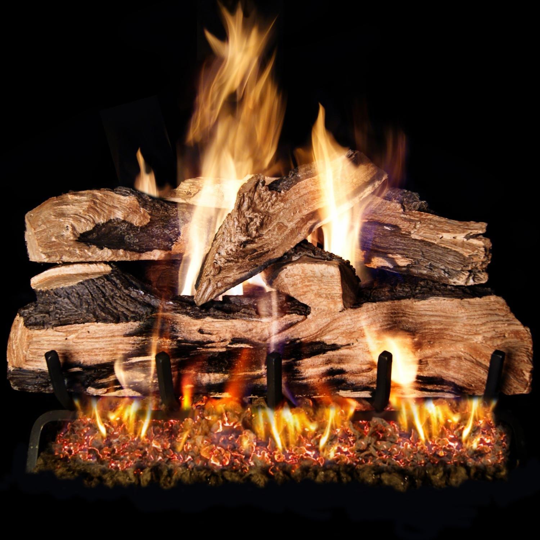 Peterson Real Fyre 30-Inch Split Oak Designer Plus Gas Log Set with Vented Natural Gas G4 Burner - Match Light by Peterson Real Fyre