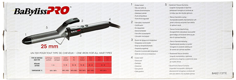 BaByliss Tenacillas Programa TT Turmalina 24 mm - 1 unidad: Amazon.es: Salud y cuidado personal