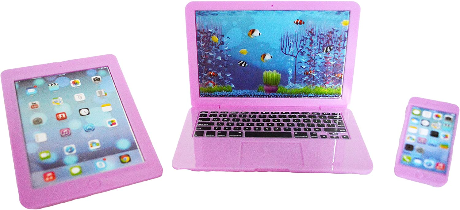 My Brittany's Designs American Co. Lavender Laptop, Tablet and Smartphone for 18 Inch Girl and Boy Dolls