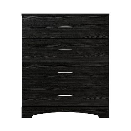 Ameriwood Home Crescent Point 4 Drawer Dresser Black Amazonca