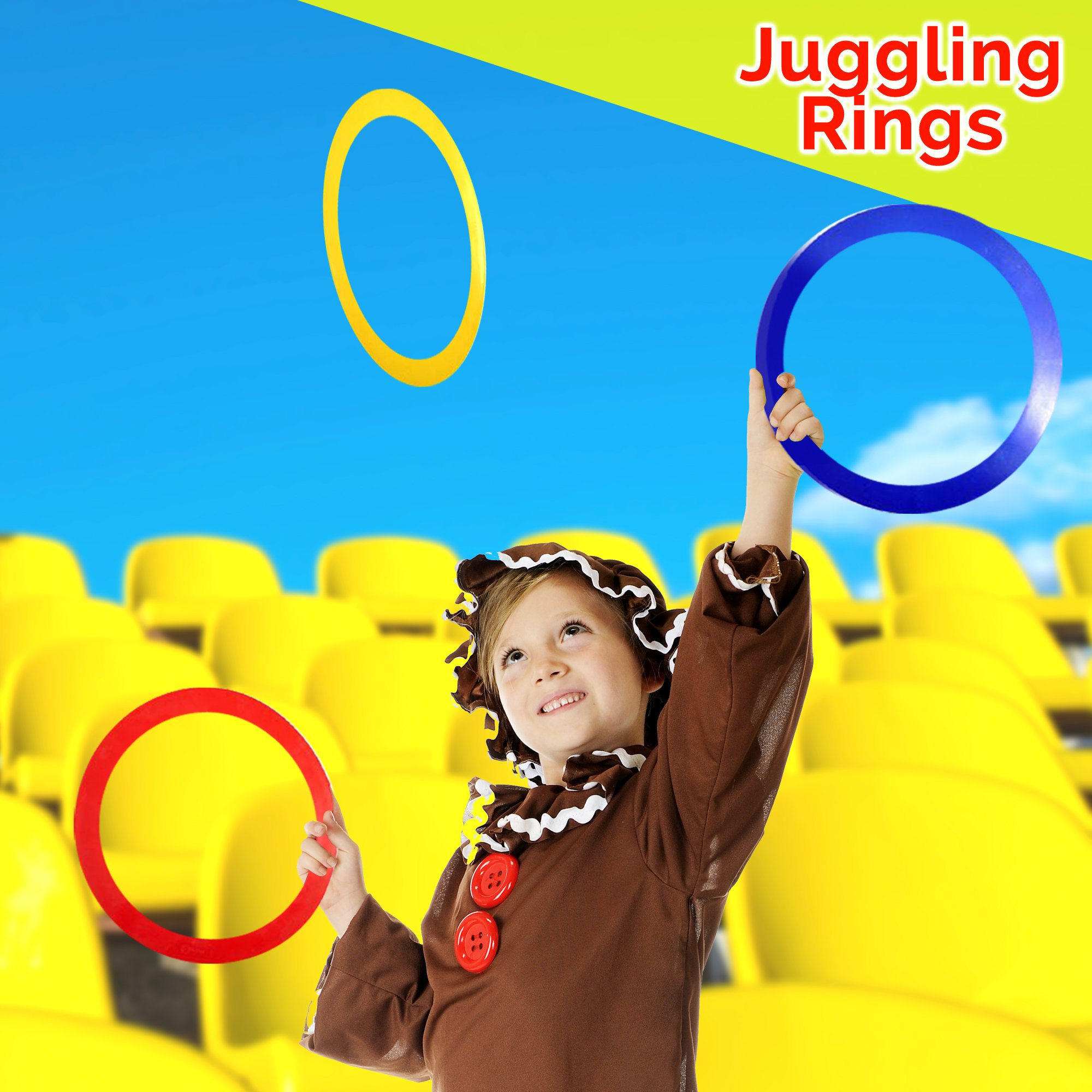 Beginners Juggling Kit - Balls (3), Pins (3), Plates (3), Rings (3), Chinese Yoyo Diabolo Advanced Set Cool Fun Unique Toy Gift Set For Boys and Girls by Juggle Mania (Image #8)