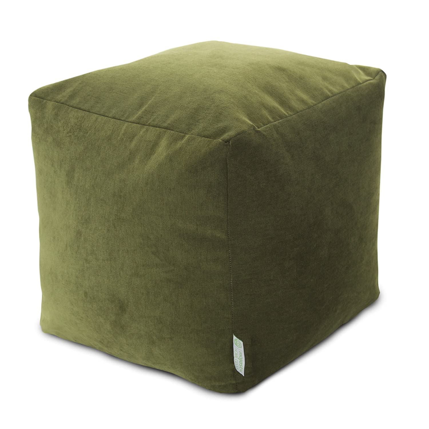 "Majestic Home Goods Fern Villa Indoor Bean Bag Ottoman Pouf Cube 17"" L x 17"" W x 17"" H"