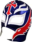 REY MYSTERIO Adult Lucha Libre Wrestling Mask (pro-fit) Costume Wear - Blue/White/Red