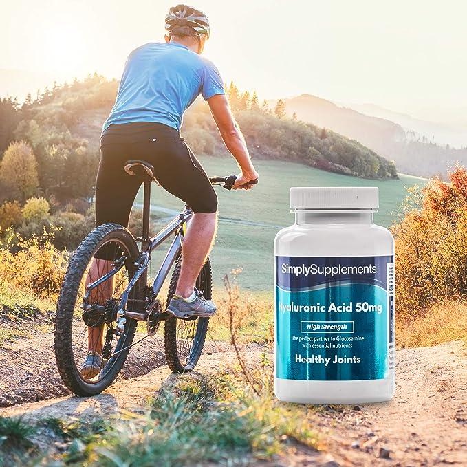 Ácido Hialurónico 50 mg - 60 cápsulas - Hasta 2 meses de suministro - Favorece la salud de las articulaciones y los músculos - SimplySupplements: Amazon.es: ...