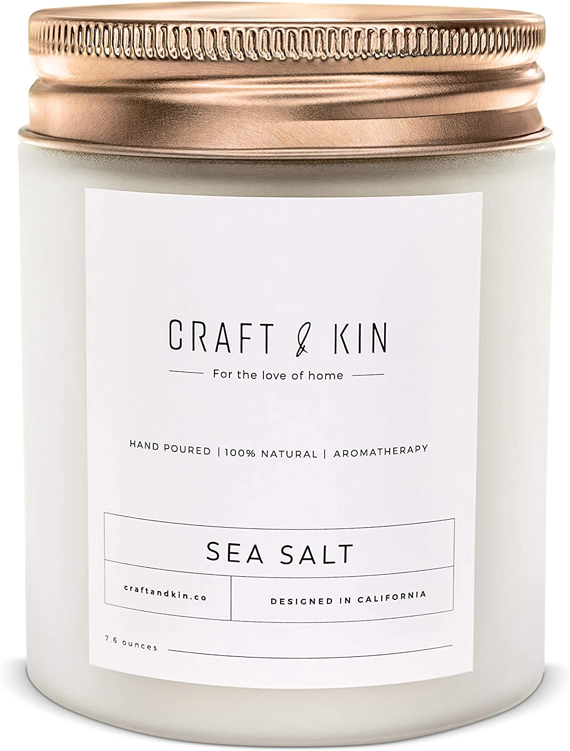 Scented Sea Salt Beach Candle – Soy
